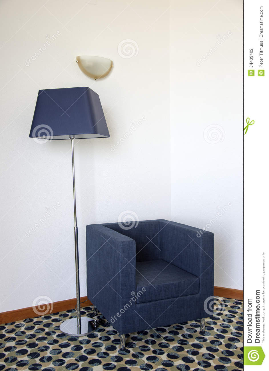 Single Seat Armchair And Light In Corner Of Room Royalty