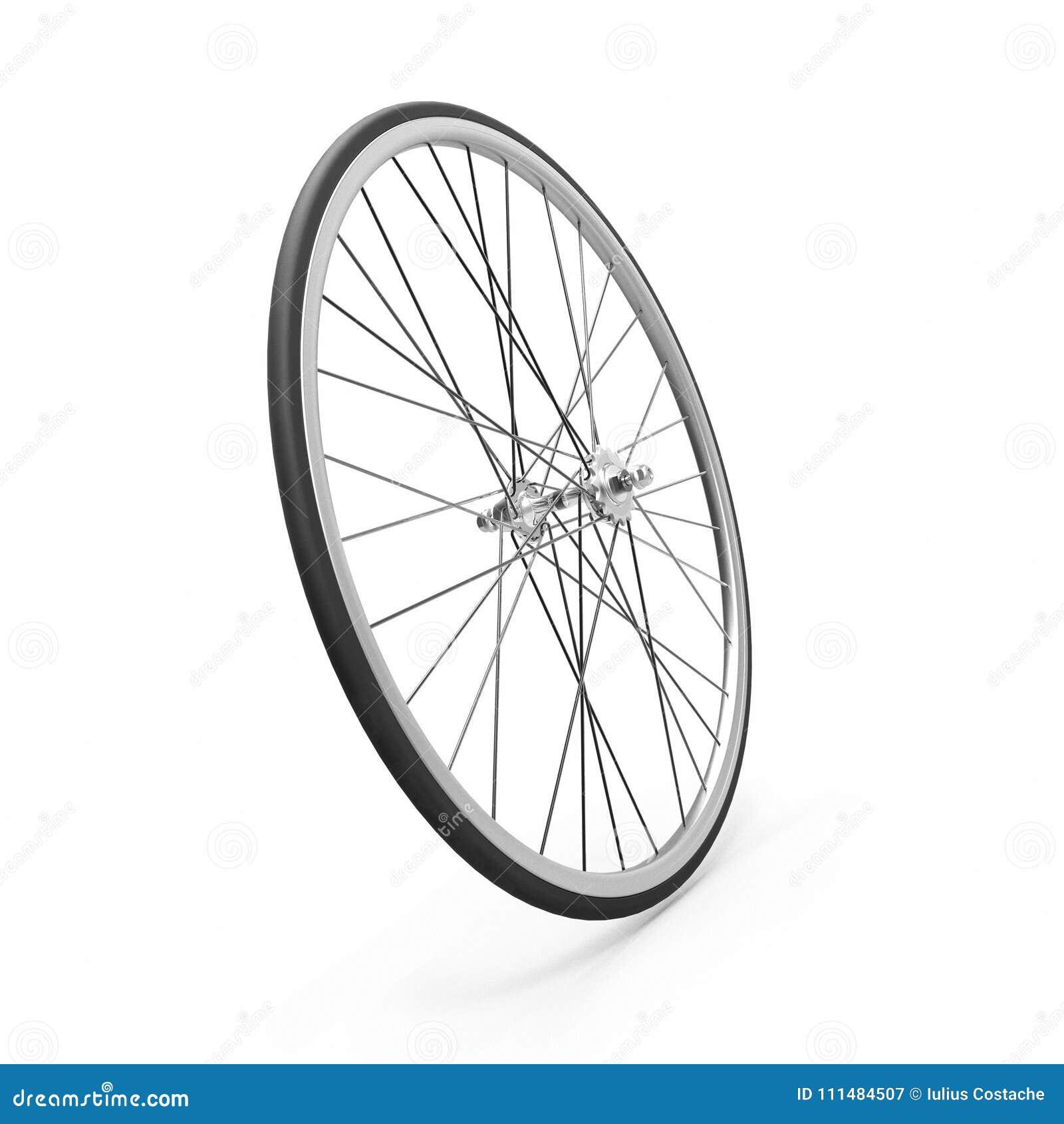 Single speed bicycle wheel stock illustration  Illustration