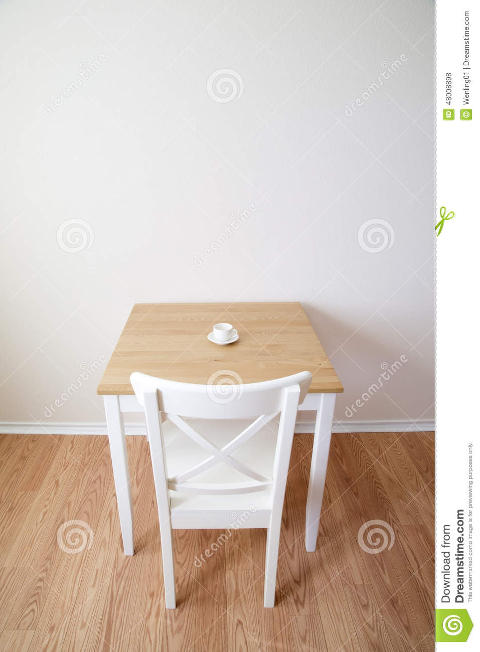 single table chair and cup stock photo image of flooring rh dreamstime com single dressing table chair single dressing table chair