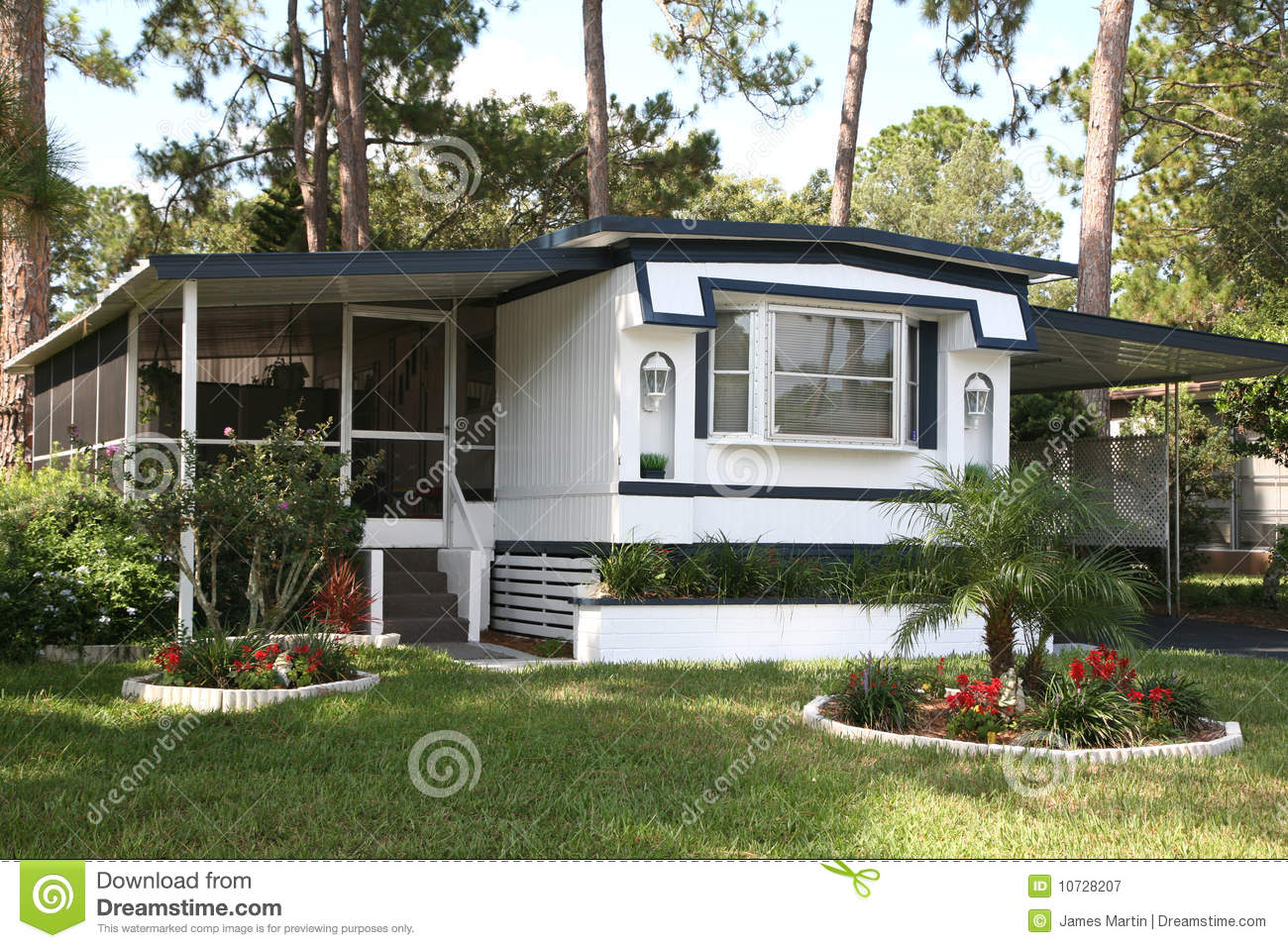 Single Wide Mobile Home Royalty Free Stock Photography