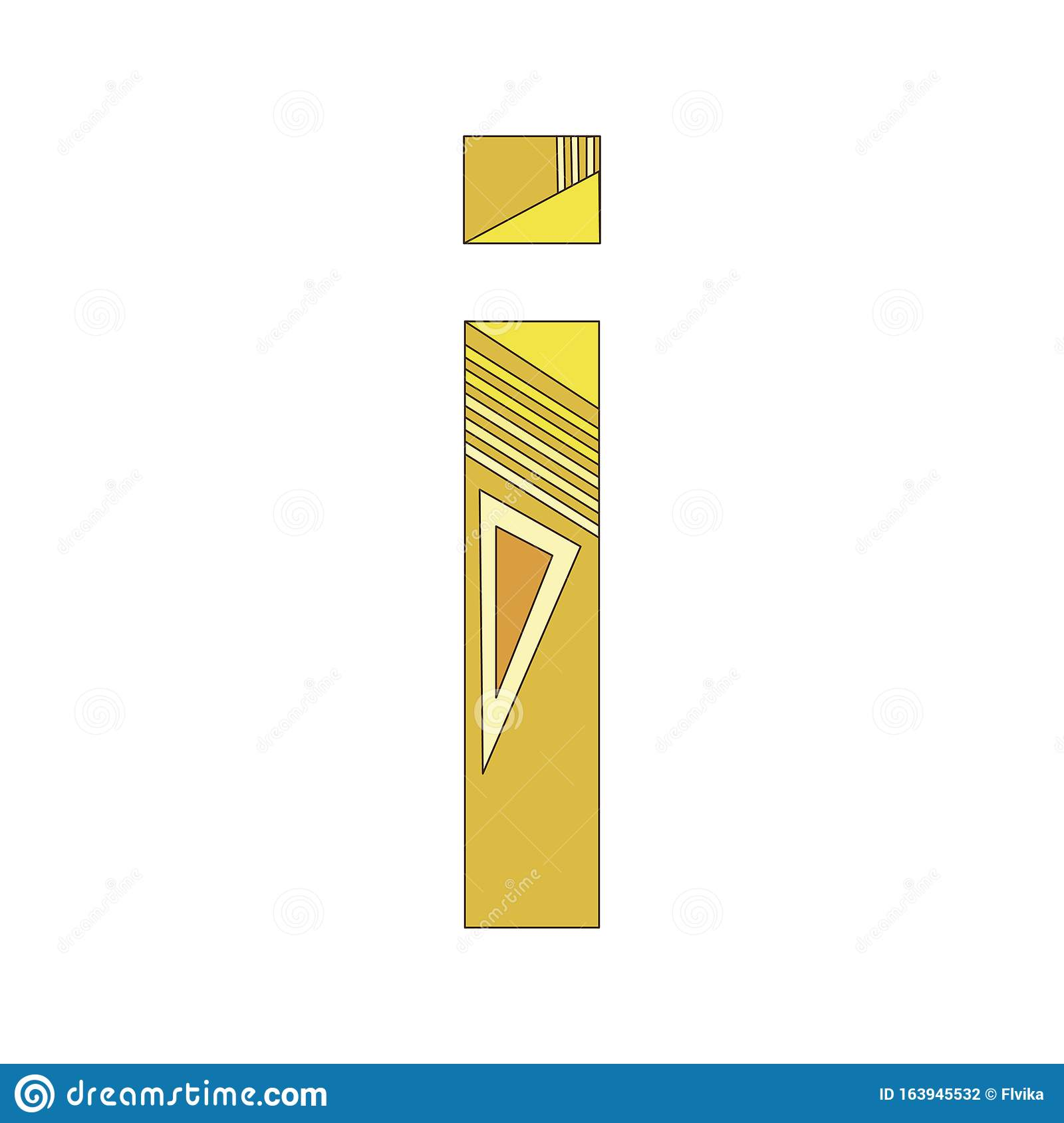 A Vector Letter I Of The English Alphabet Isolated On ...