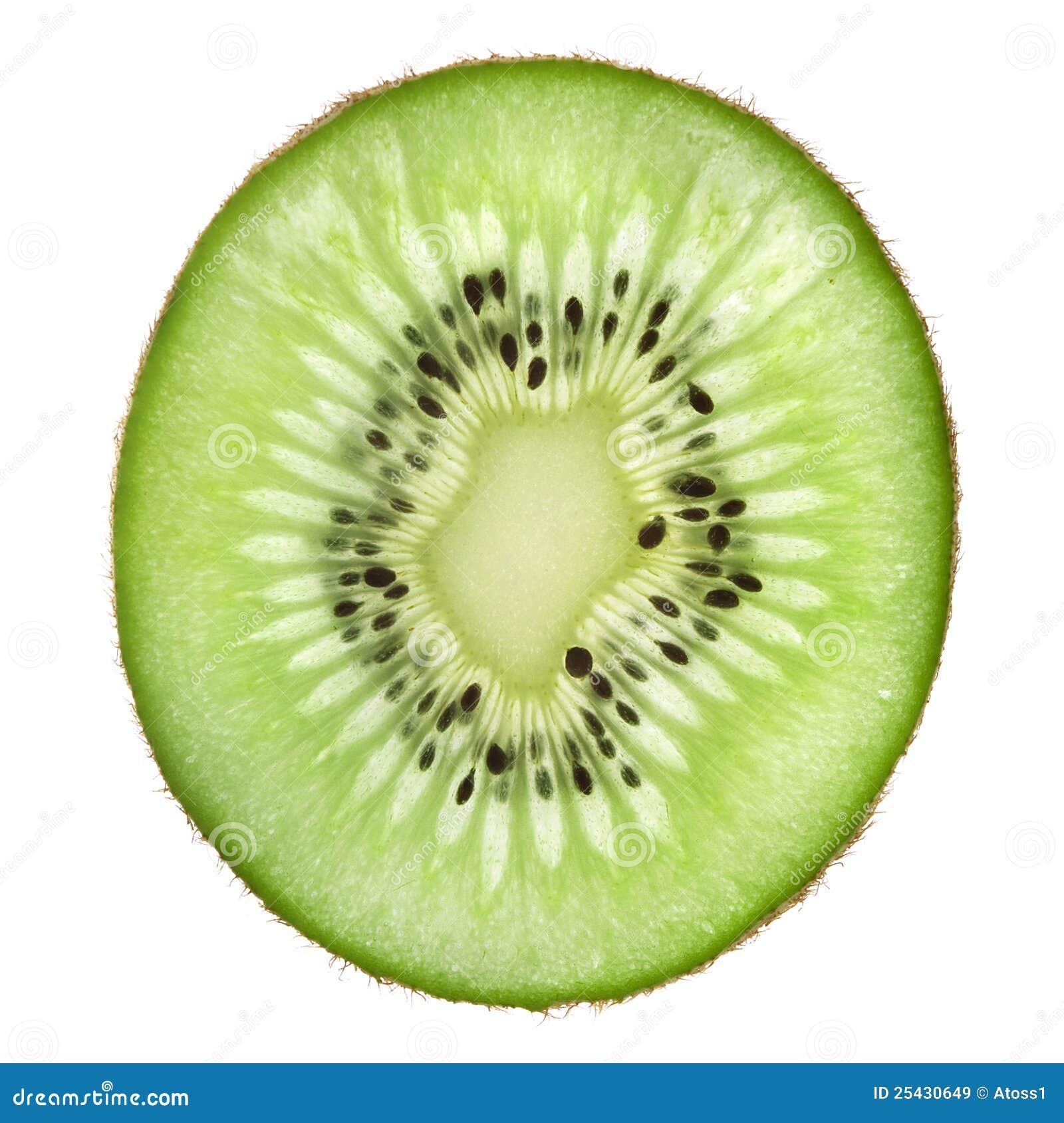 Singola fetta di frutta di kiwi immagine stock immagine - Contorno di immagini di frutta ...