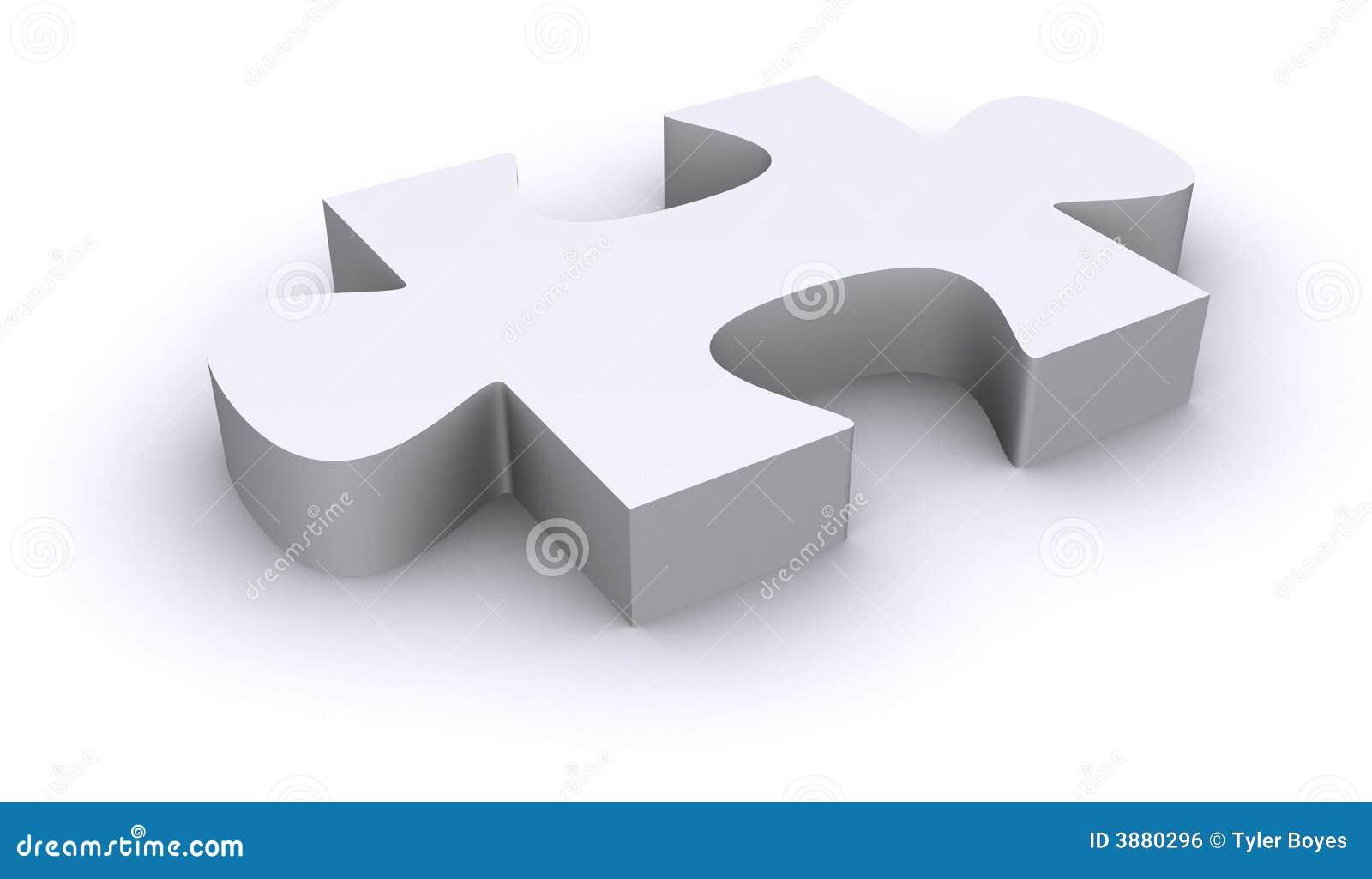 Singola parte di puzzle 3d