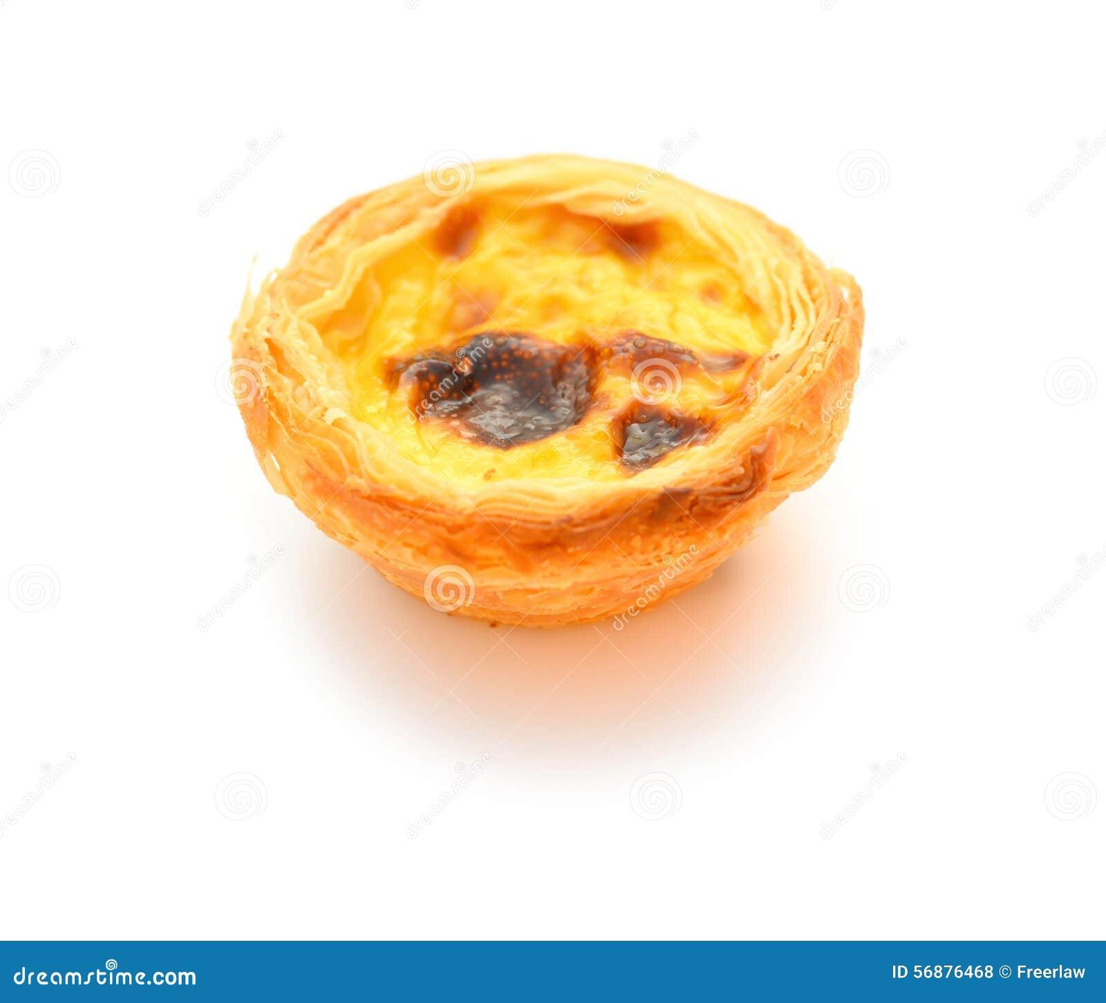 Singola torta portoghese dell uovo