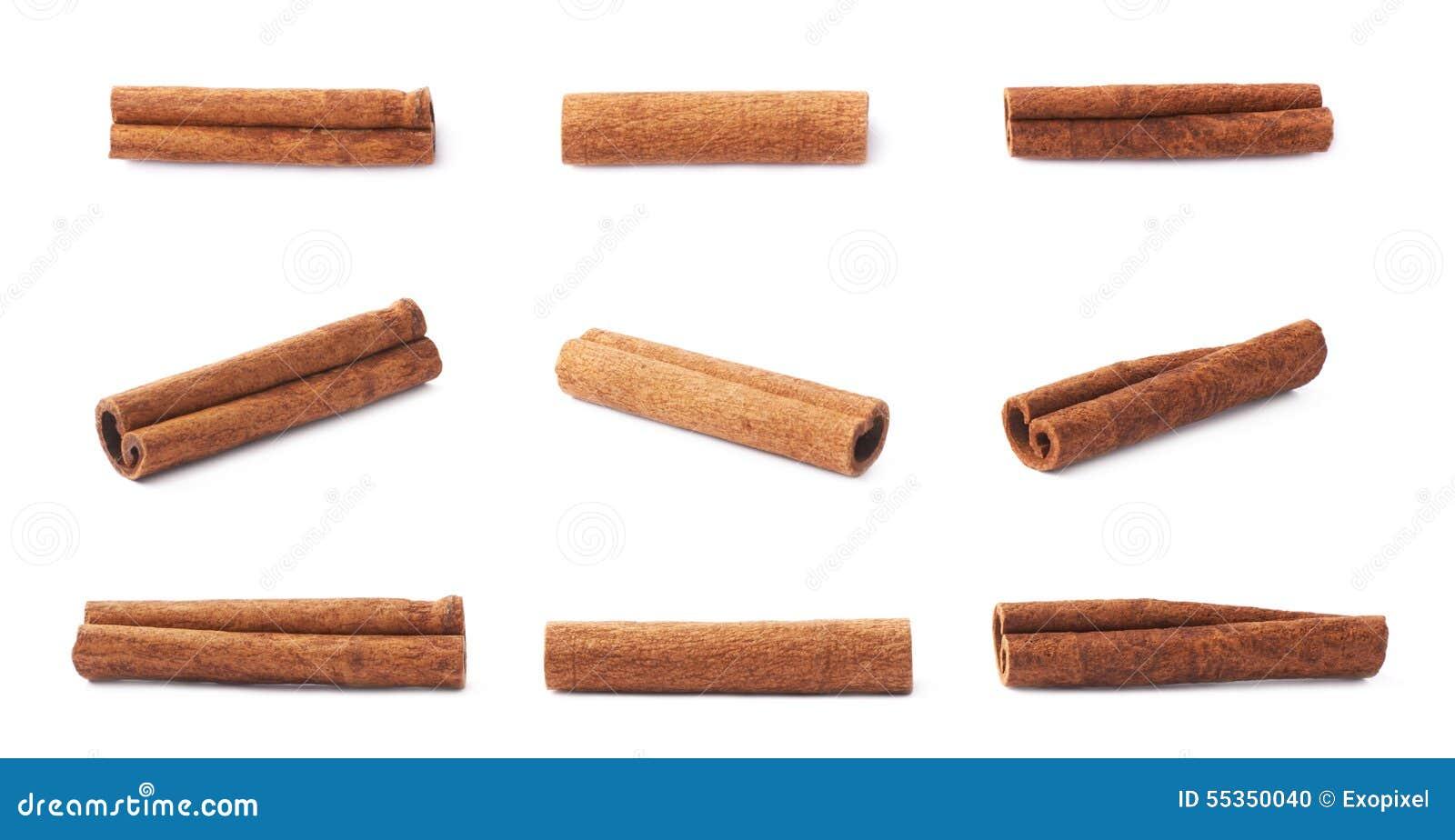 Singoli bastoni di cannella multipli