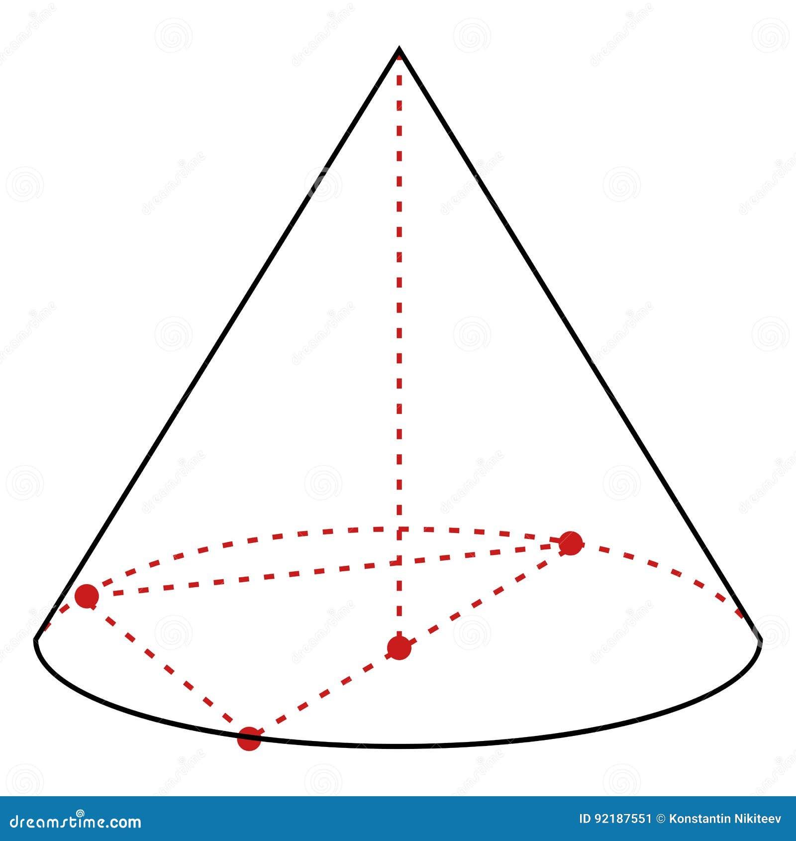 Singolo illustrazione al tratto - cono di vettore
