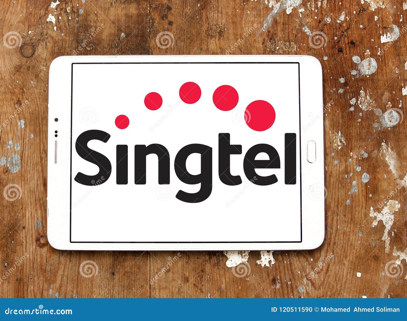 Singtel Telecommunications Company Logo Editorial Image - Image of