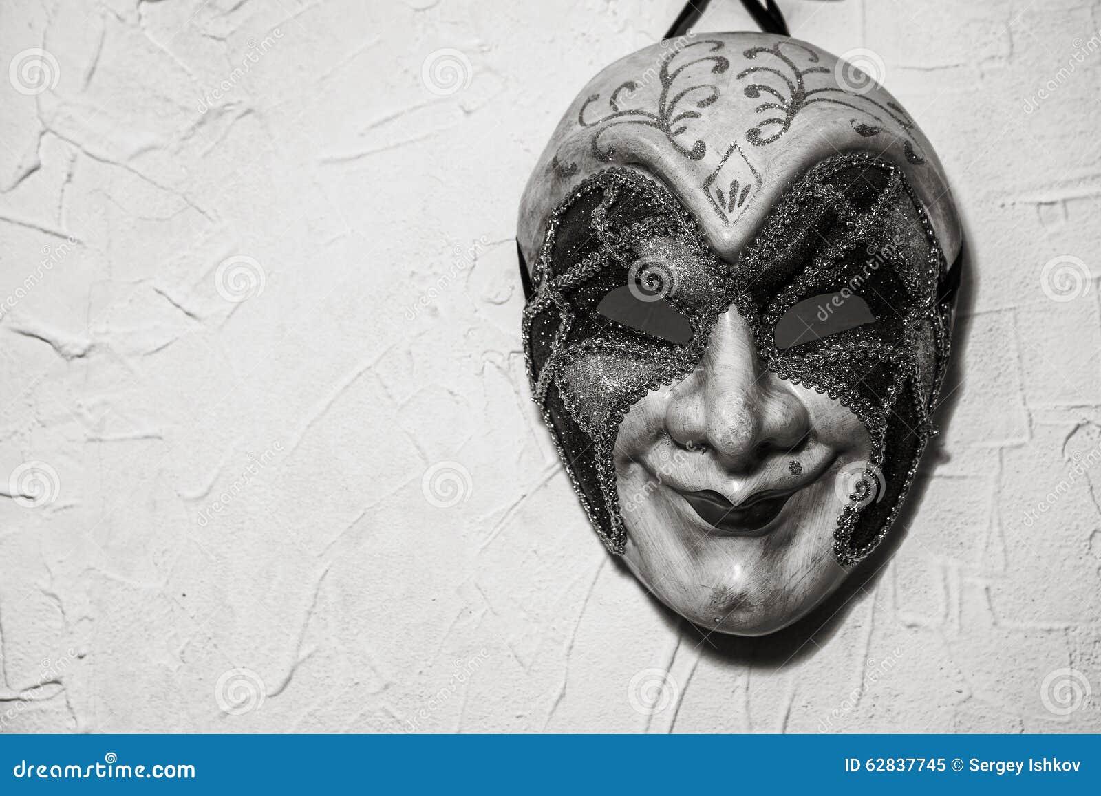 Sinister joker mask black and white