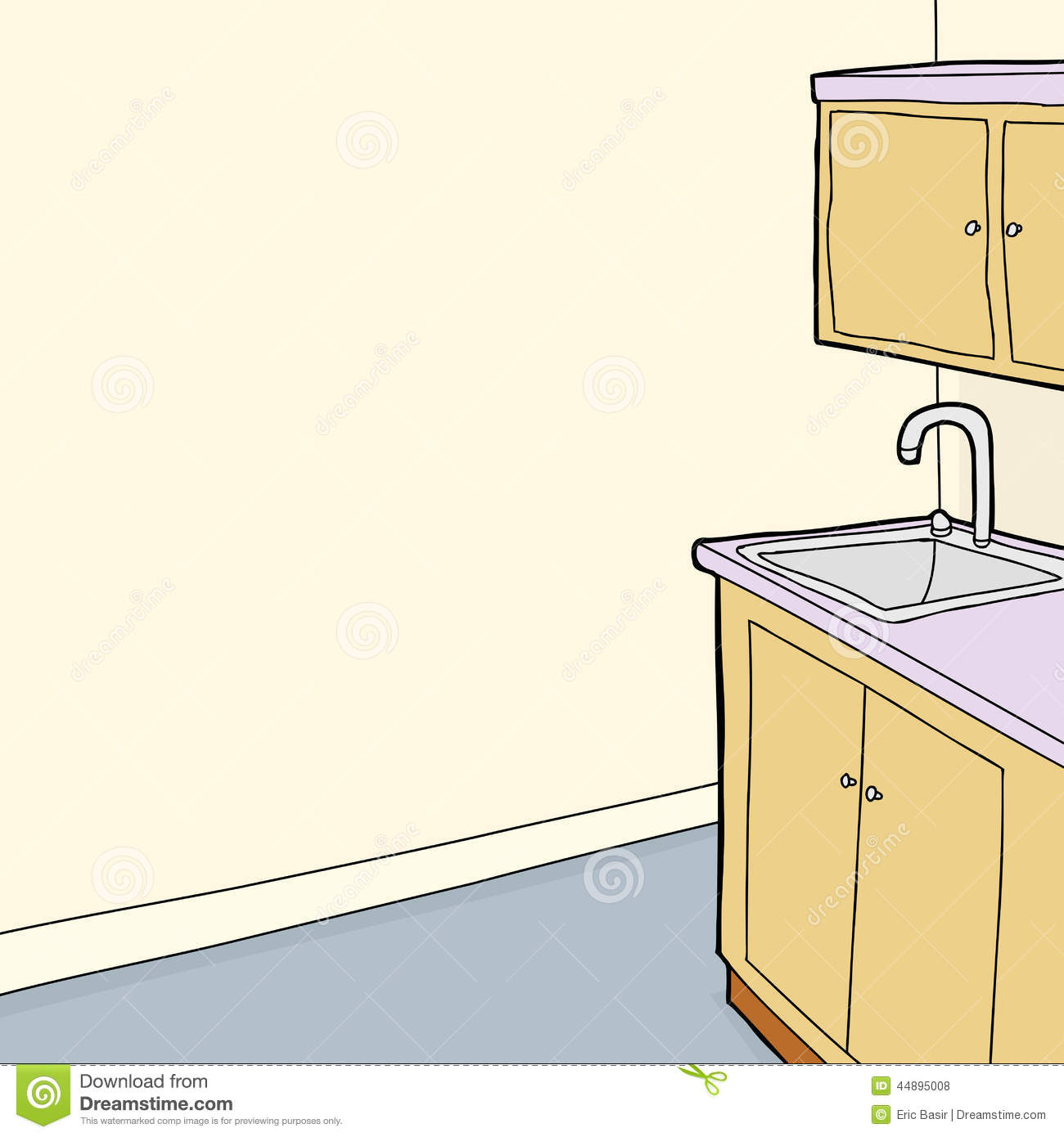 Sink Blank : bathroom cabinet and sink sink and cabinet in room stock vector image ...