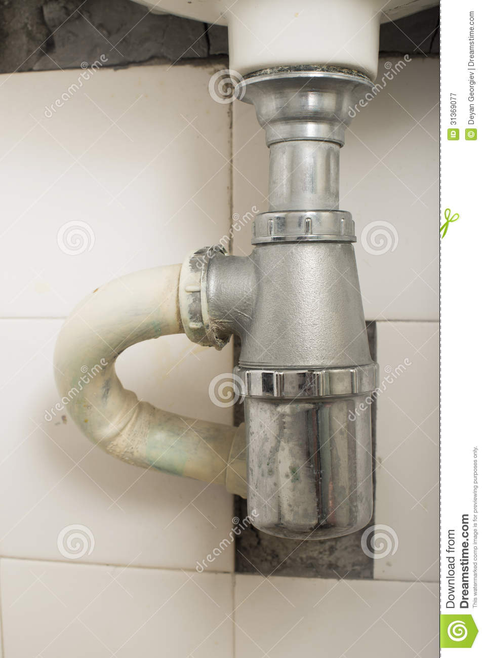 Kitchen Sink Pipes : Sink And Pipes Royalty Free Stock Photography - Image: 31369077
