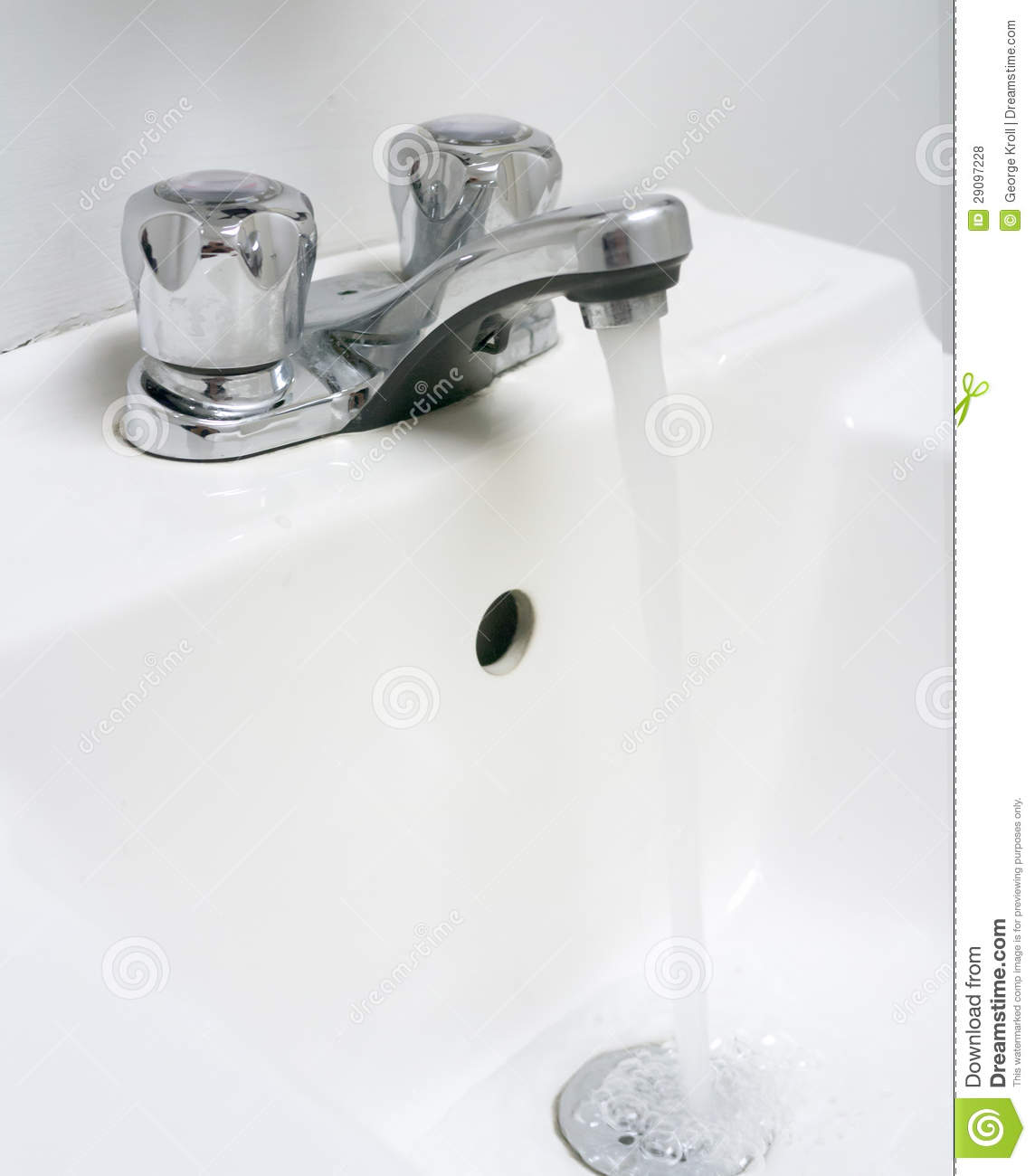 Sink With Running Water. Royalty Free Stock Photos - Image ... Sink With Water