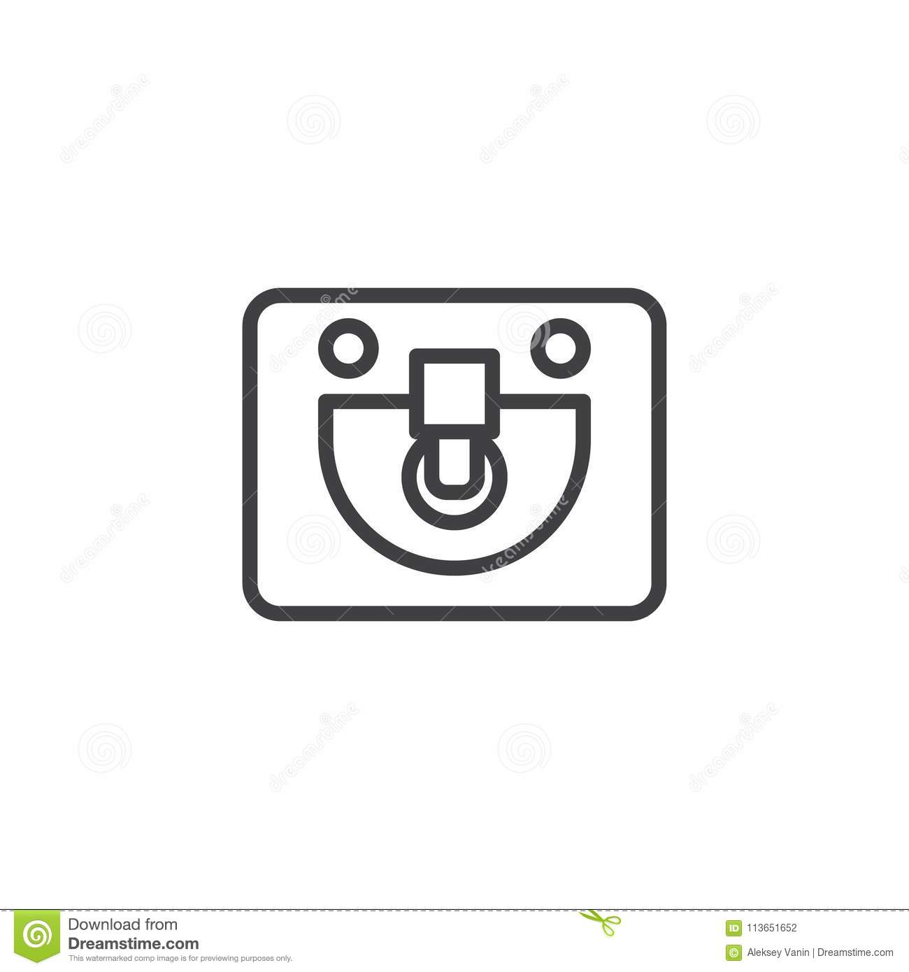 sink top view outline icon stock vector illustration of bowl 113651652 https www dreamstime com sink top view outline icon linear style sign mobile concept web design washbasin simple line vector icon symbol logo image113651652