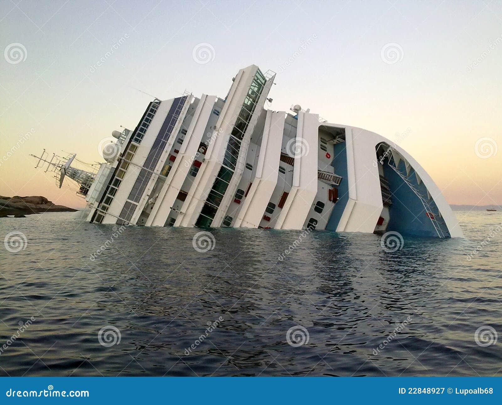 Sinkende Lieferung Costa Concordia