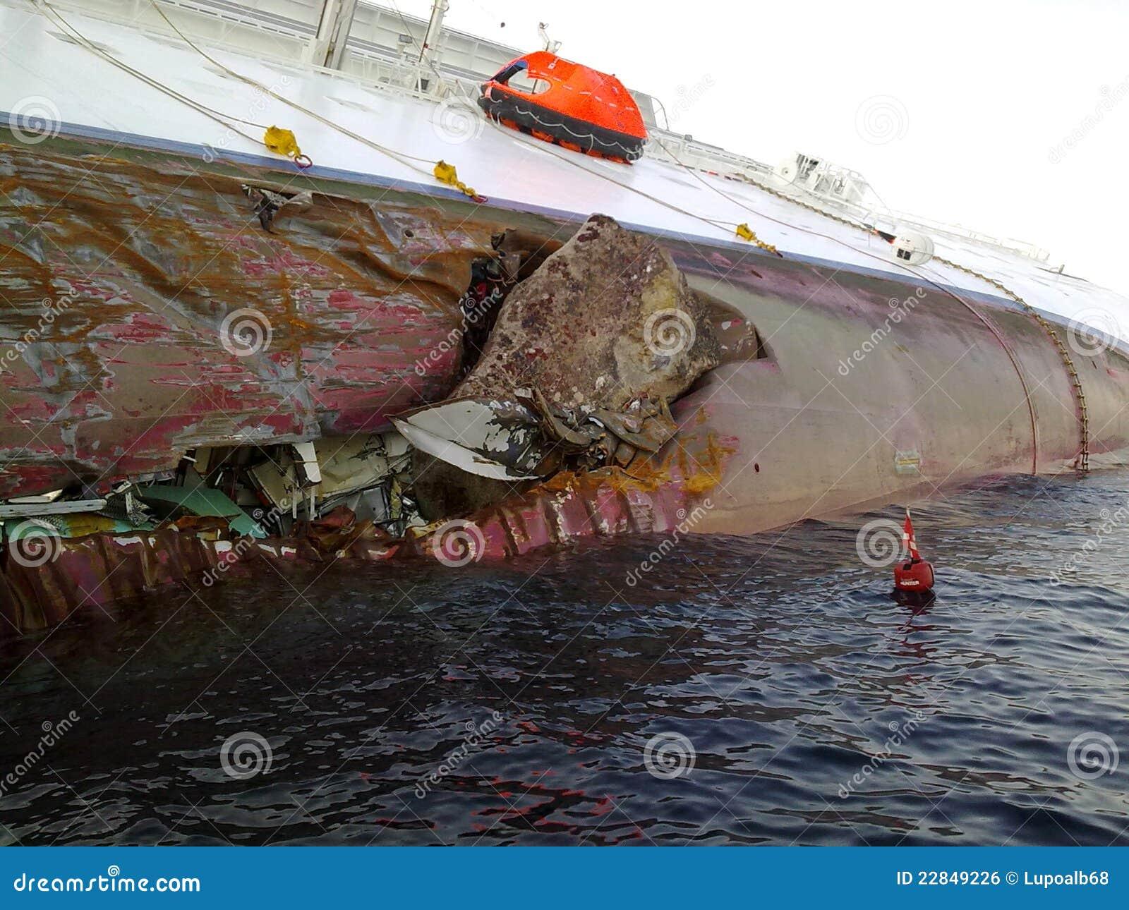 Sinking Cruise Ship Costa Concordia Editorial Photo