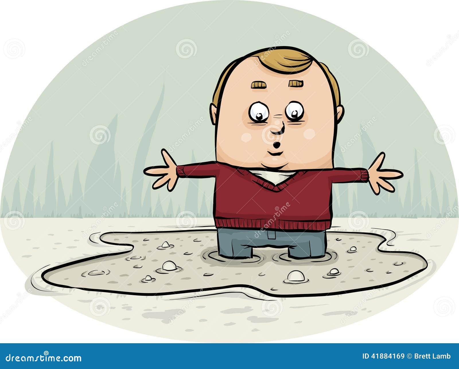 Sinking In Quicksand Stock Illustration - Image: 41884169