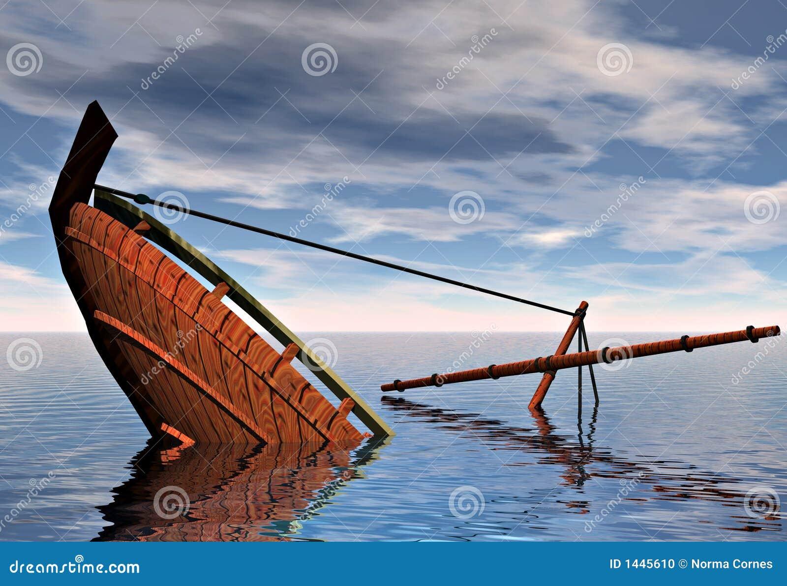 Sinking Ship Stock Photo - Image: 1445610