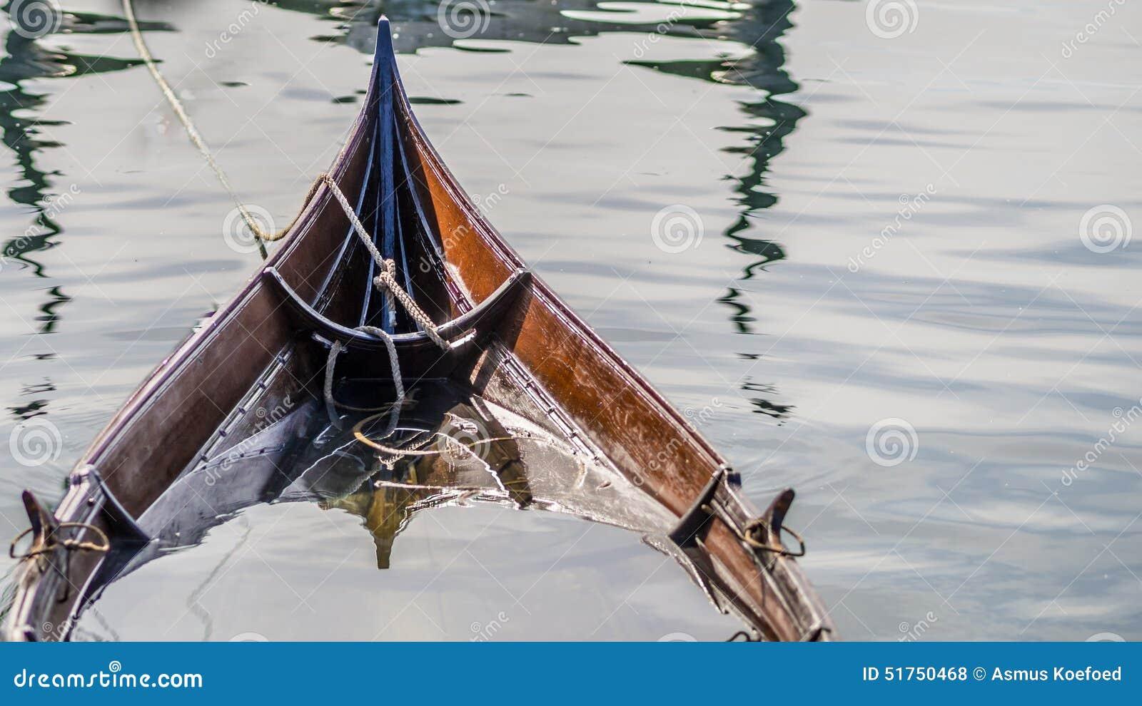 Sinking Viking Ship Like Boat Stock Photo - Image: 51750468