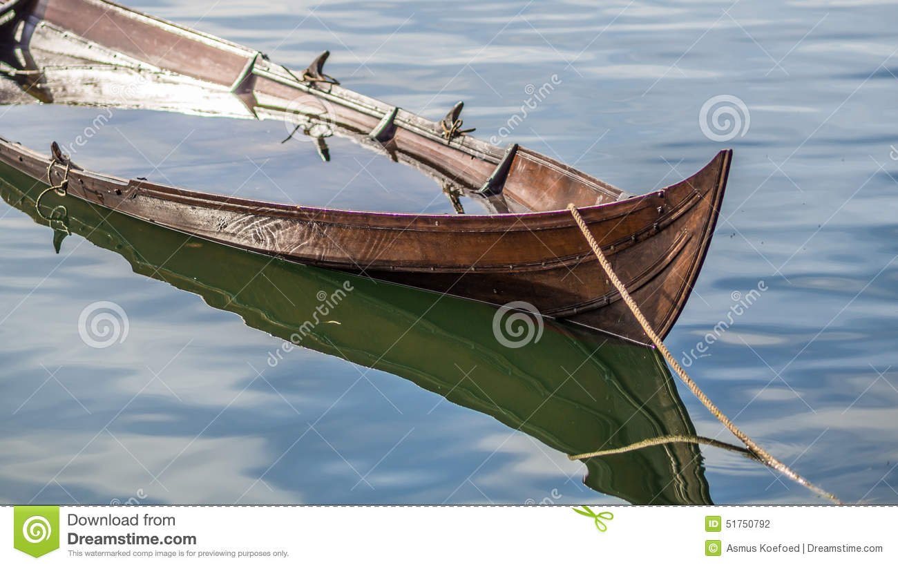 Sinking Viking Ship Like Boat Stock Photo - Image: 51750792