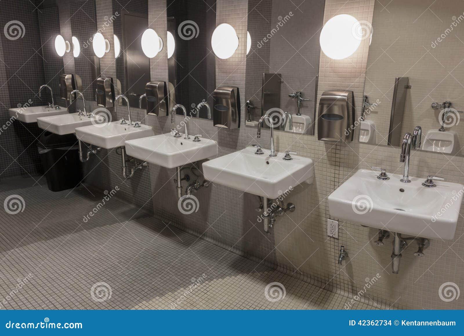 Sinks in public restroom stock photo image of hygiene for Public bathroom sink