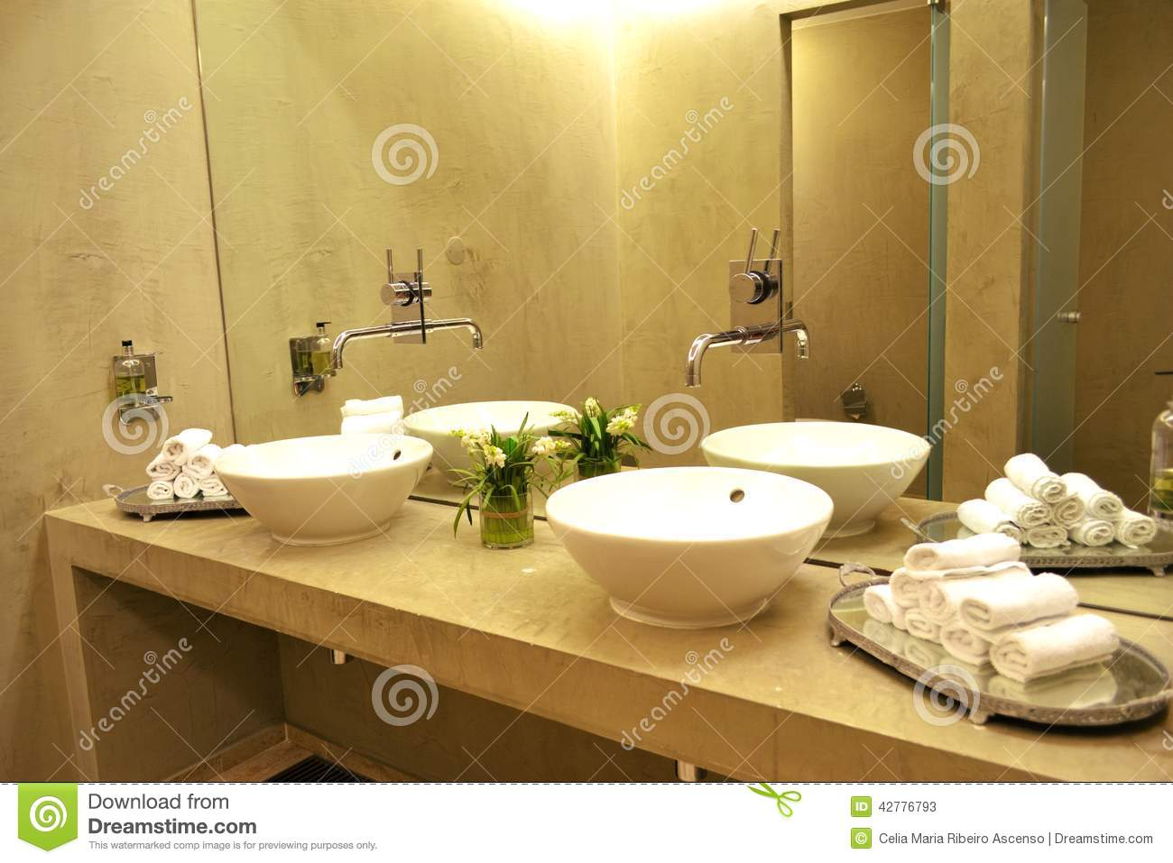 Sinks And Taps Toilet SPA Bathroom Stock Photo - Image: 42776793