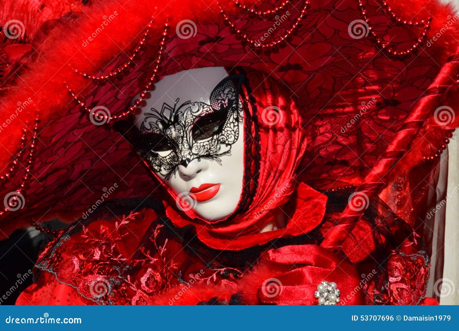 Sinnliche rote Maske