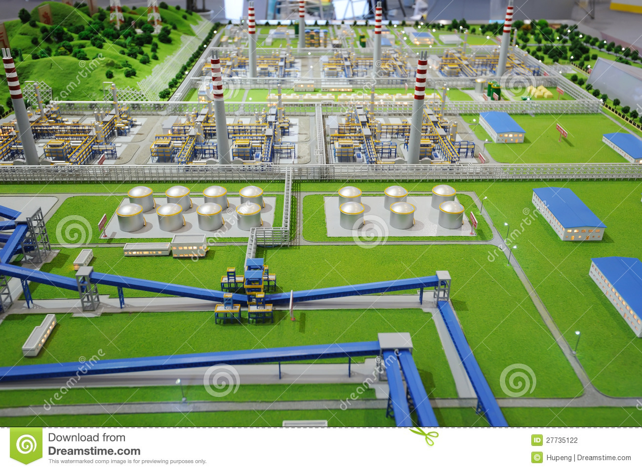 Sinopec Group Natural Gas Processing Plant Model Editorial Photography Image 27735122