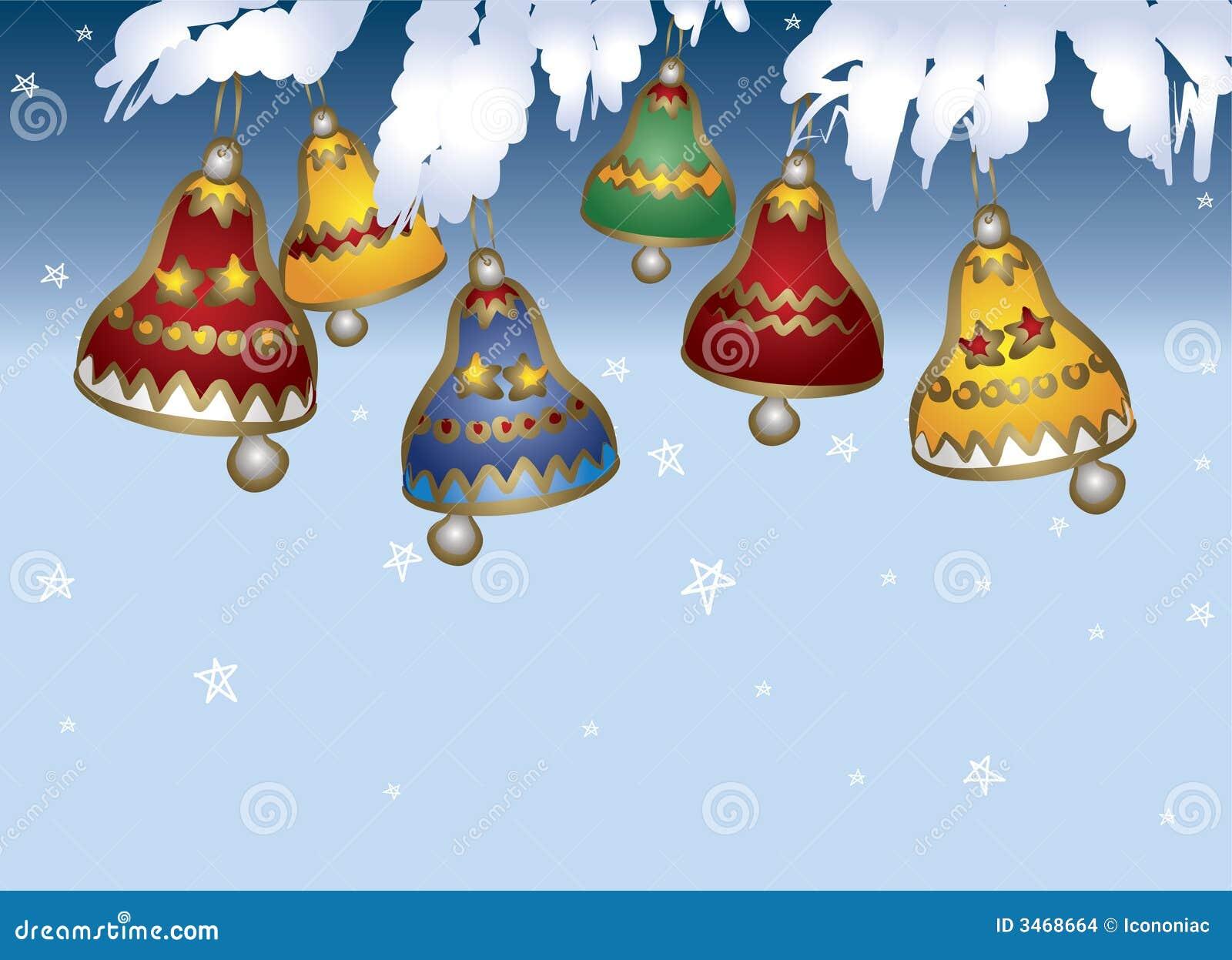 Sinos De Natal Coloridos Ilustração Do Vetor. Ilustração