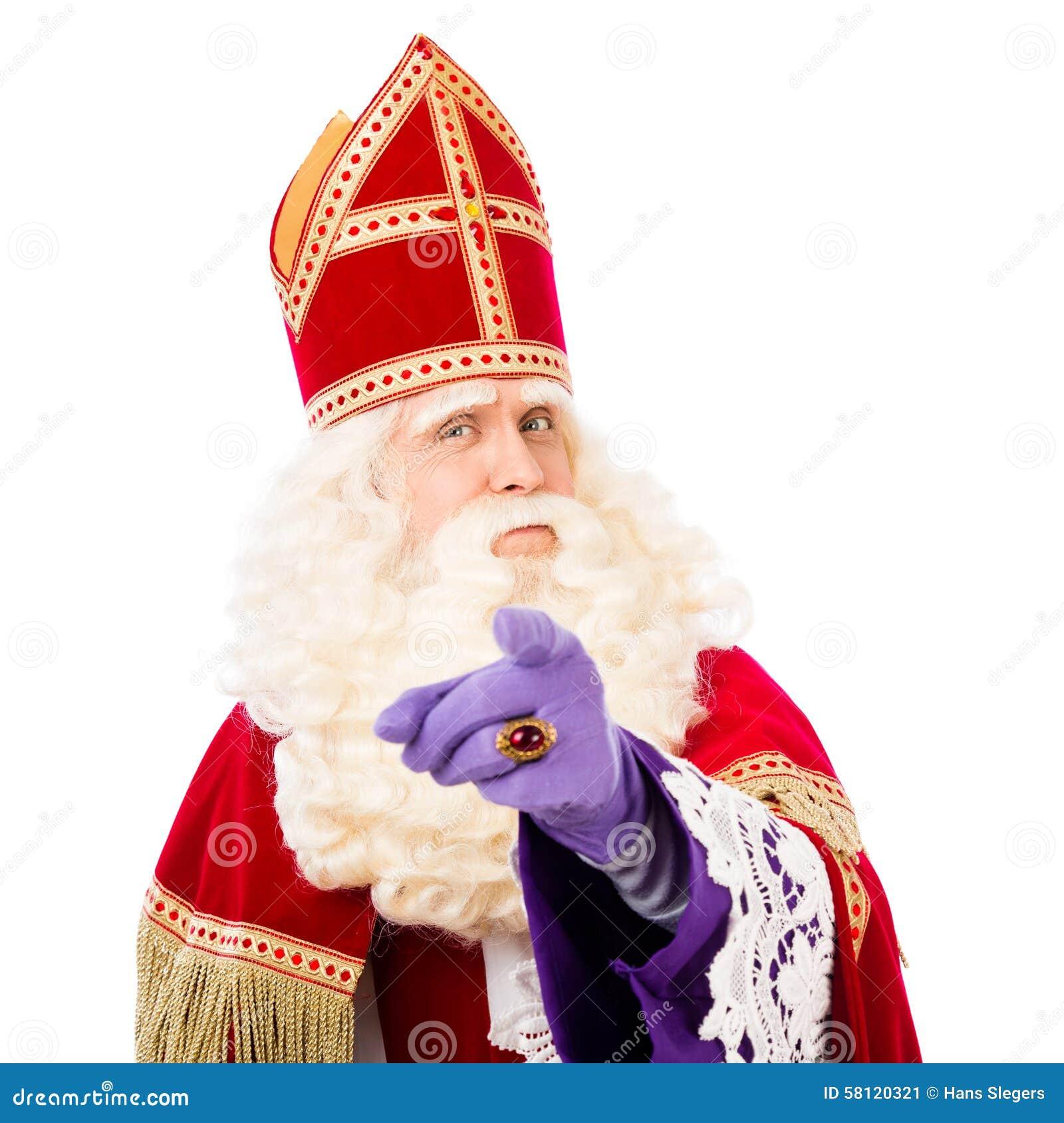 Sinterklaas avec diriger le doigt