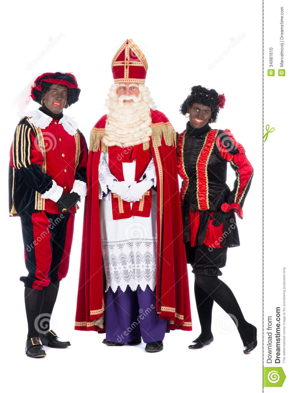 Fabulous Sinterklaas And A Couple Of His Helpers Stock Photo - Image of @TT02