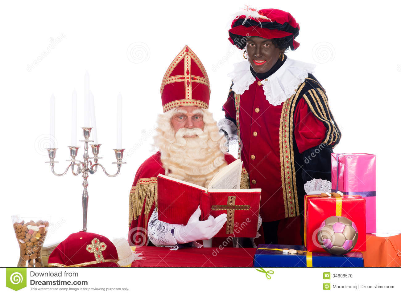 Sinterklaas And Zwarte Piet Stock Photo Image 34808570