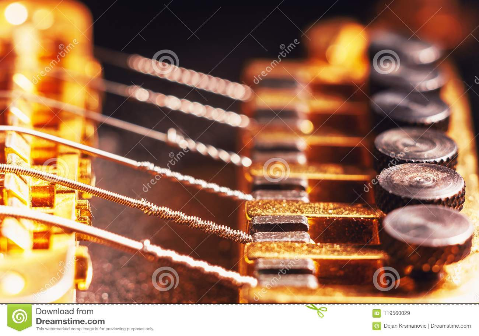 Sintonizadores de la multa de la guitarra eléctrica