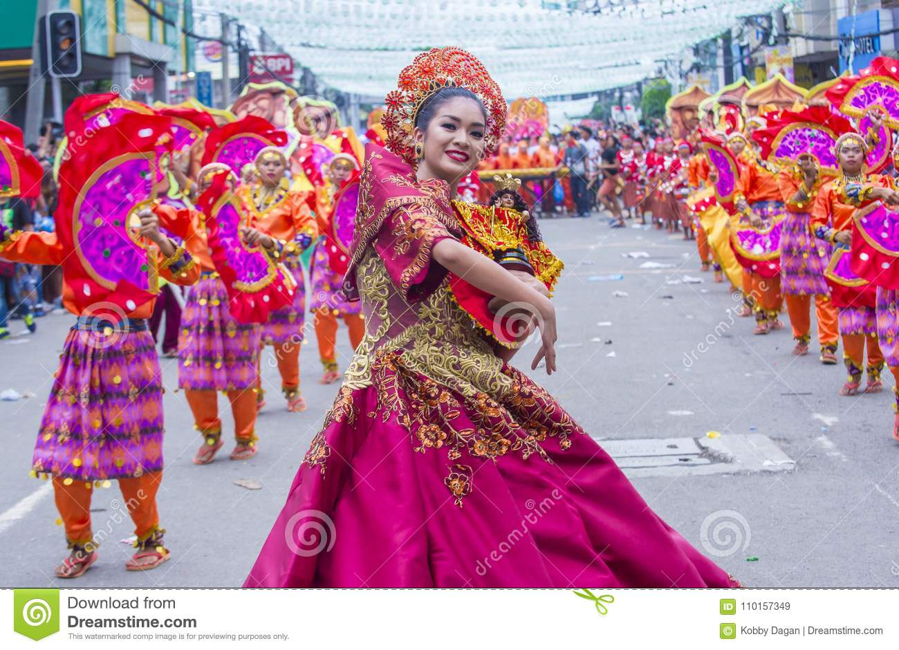 2018 Sinulog festival editorial stock image  Image of event
