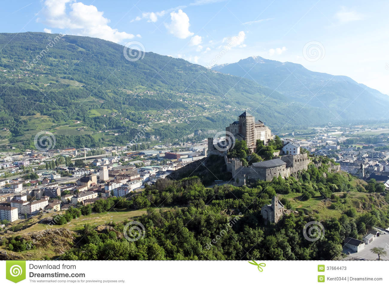Sion, the canton of Valais in Switzerland