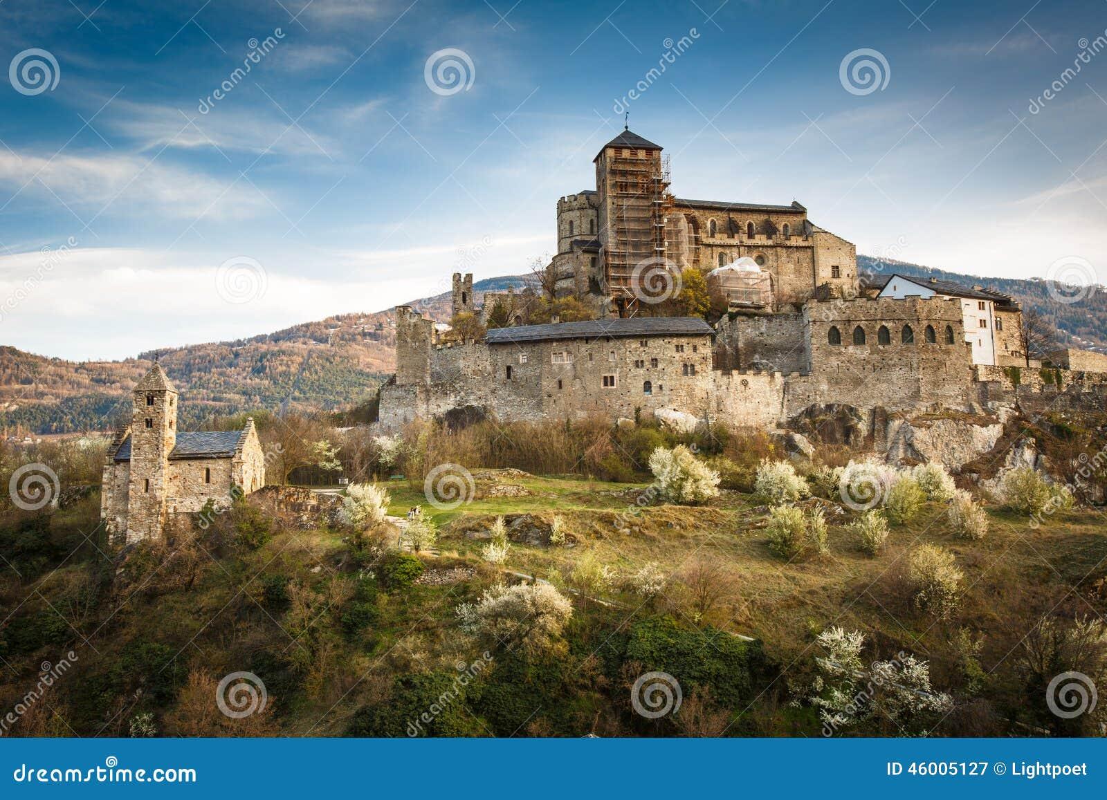 Sion, het kasteel van Zwitserland - van Valere