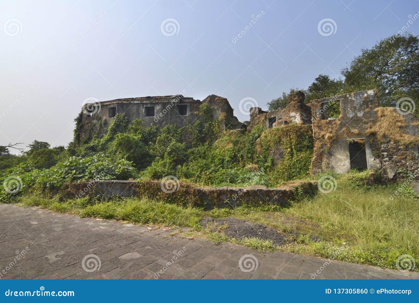Sion wzgórka fort w Mumbai, India