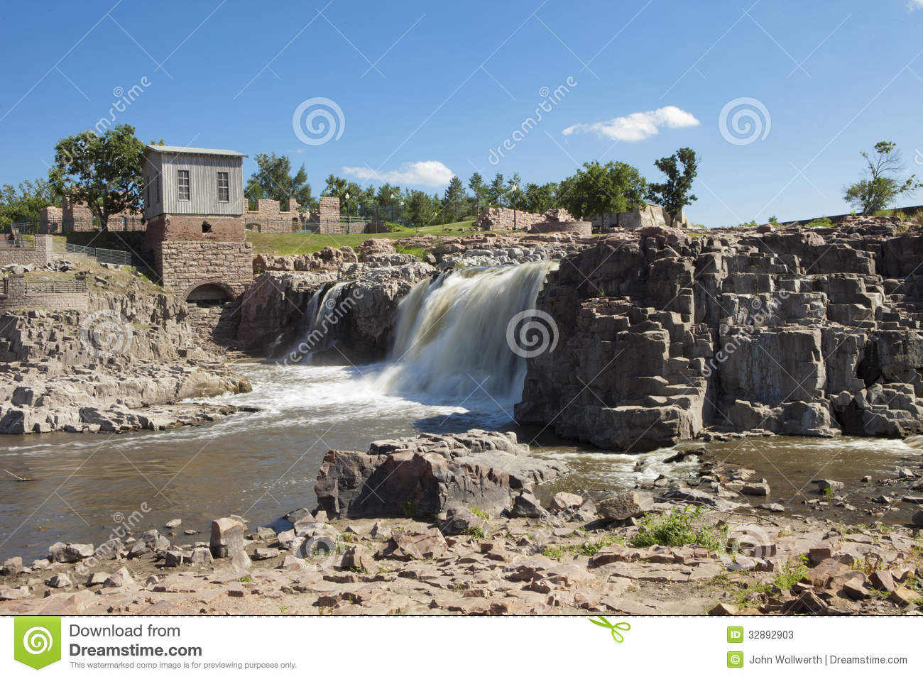 sioux falls south dakota stock image image of waterfall. Black Bedroom Furniture Sets. Home Design Ideas