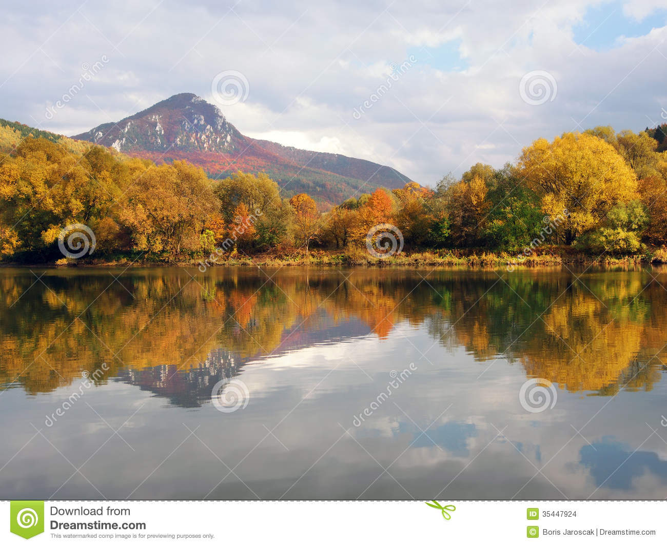 Sip hill and vah river in autumn stock photo image of for River hill