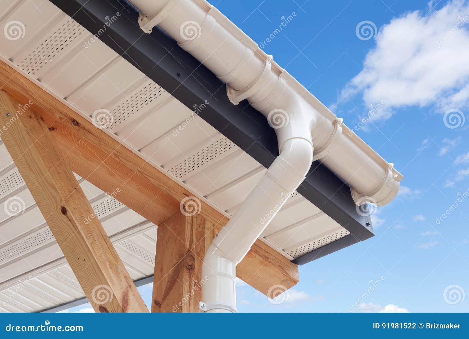 Sip Panel House Construction New White Rain Gutter
