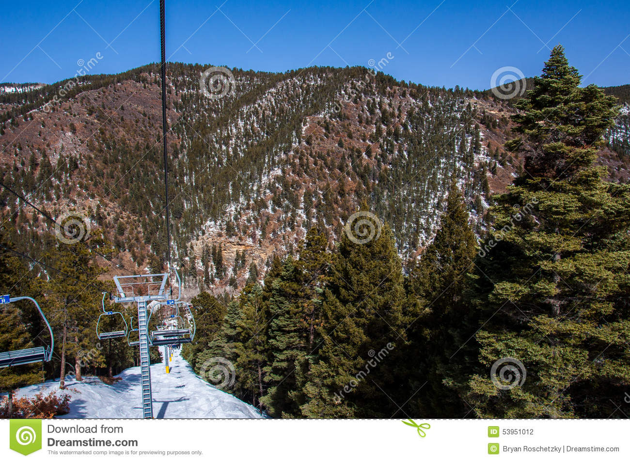 sipapu ski resort new mexico skiing top of life stock photo - image