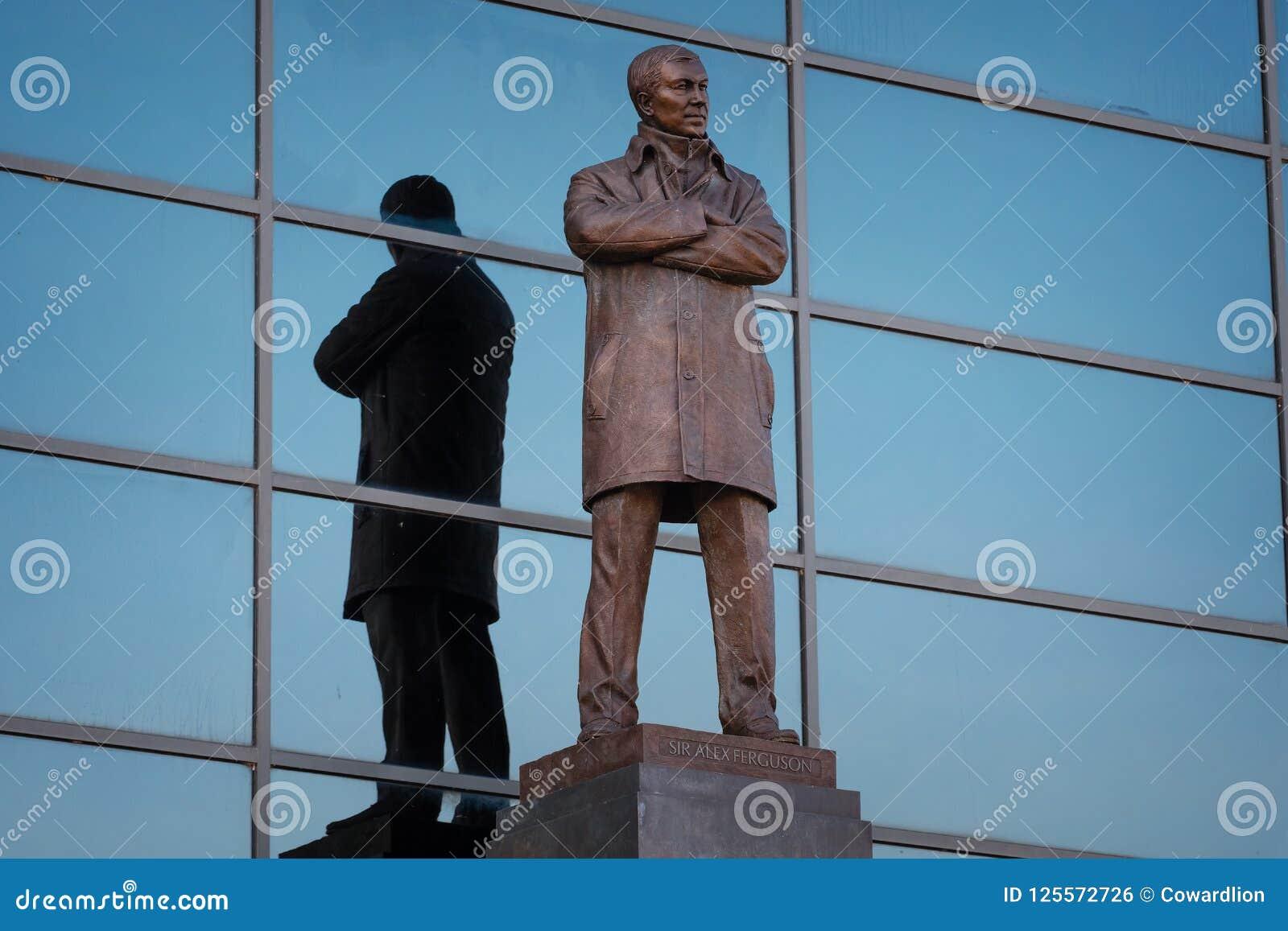Sir Alex Ferguson Bronze Statue At Old Trafford Stadium In ...