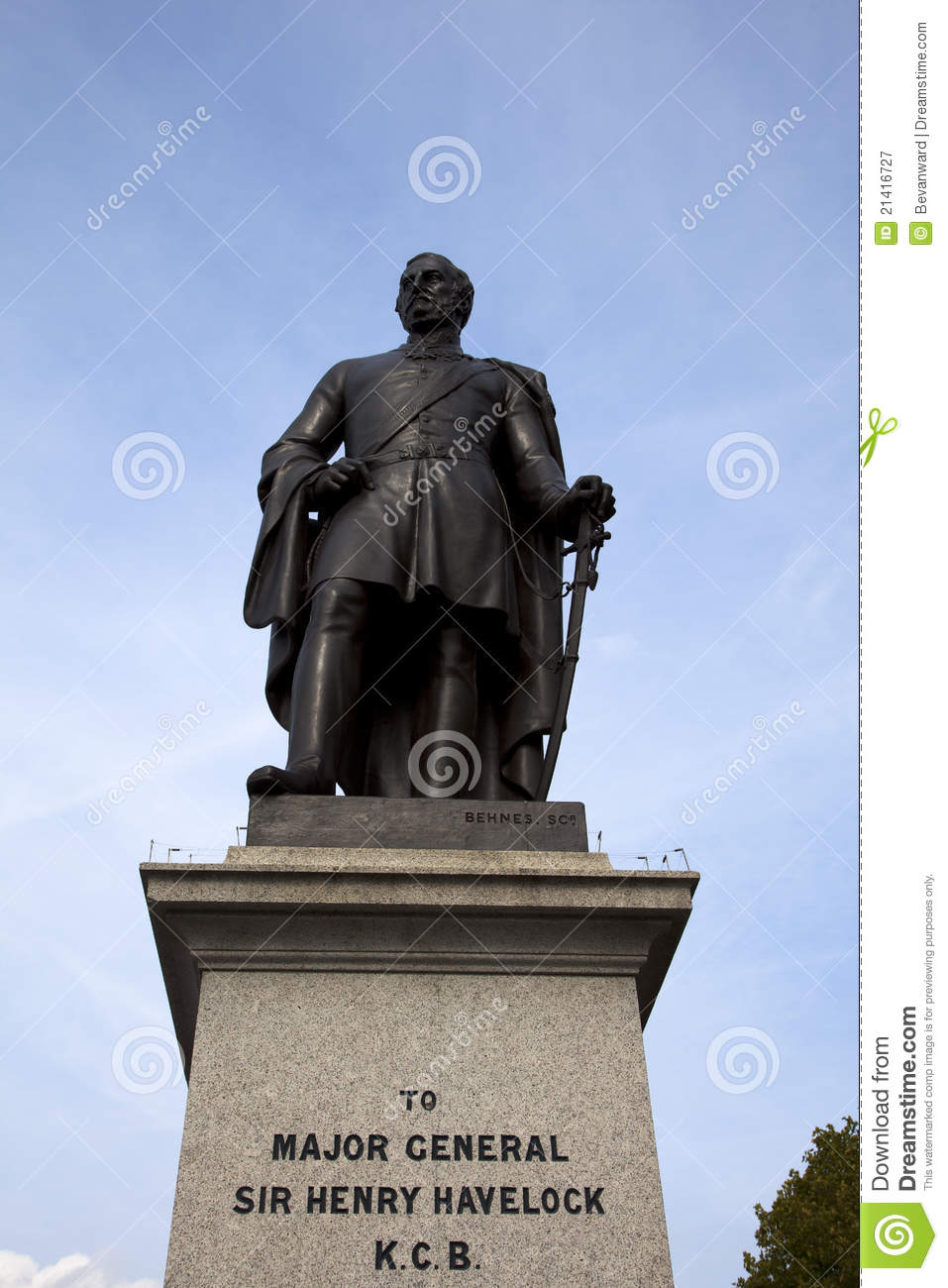 Sir Henry Havelock Statue Trafalgar Londra quadrata