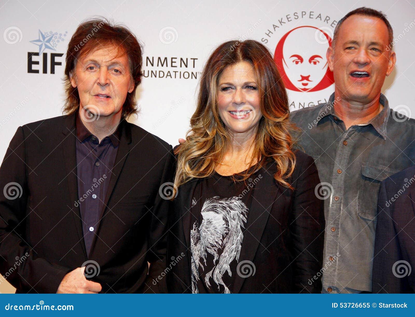 Sir Paul McCartney, Rita Wilson e Tom Hanks