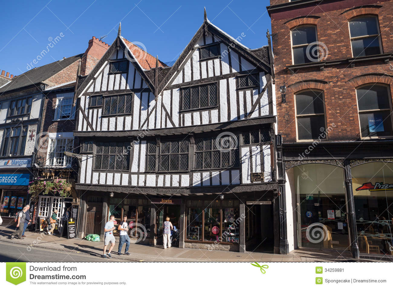 York United Kingdom  city pictures gallery : York, United Kingdom September 22, 2013: View at York's oldest Tudor ...