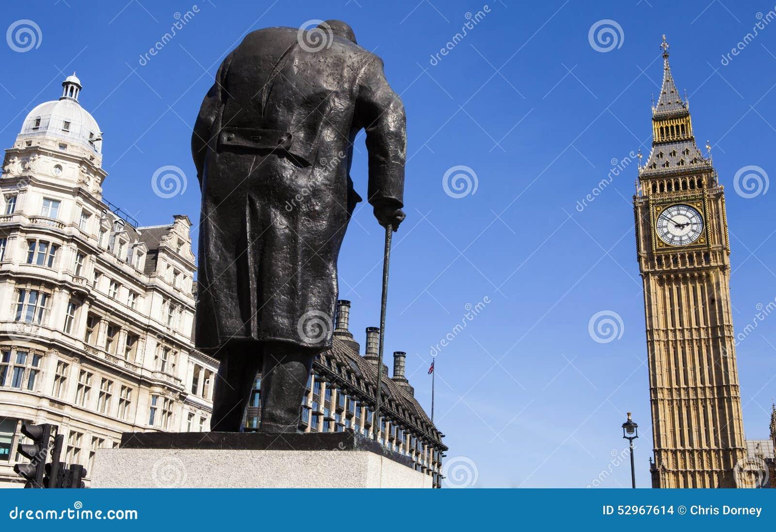 Sir Winston Churchill statua w Londyn