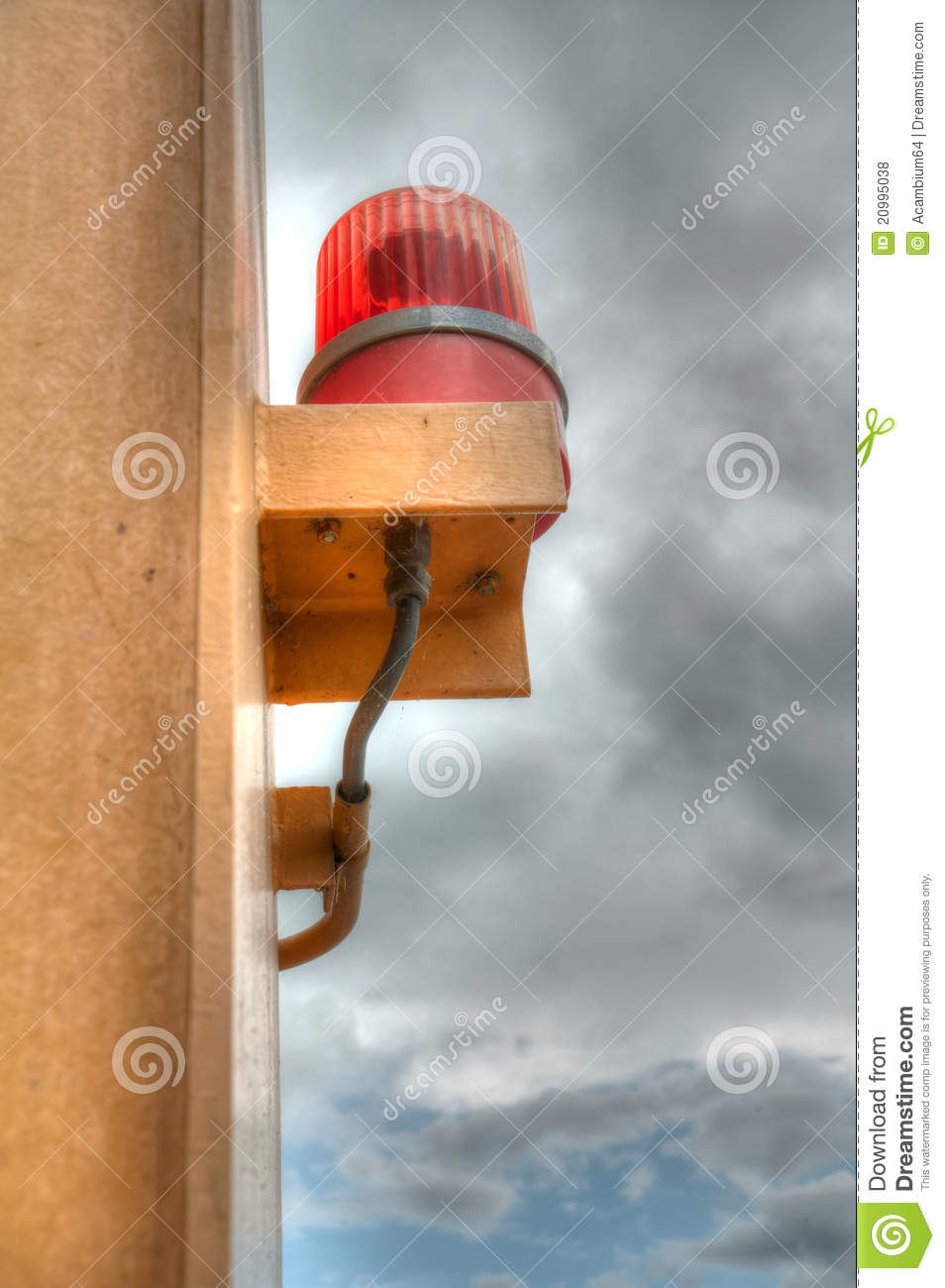Siren in cloudy sky background hdr stock photo image of siren in cloudy sky background hdr altavistaventures Gallery