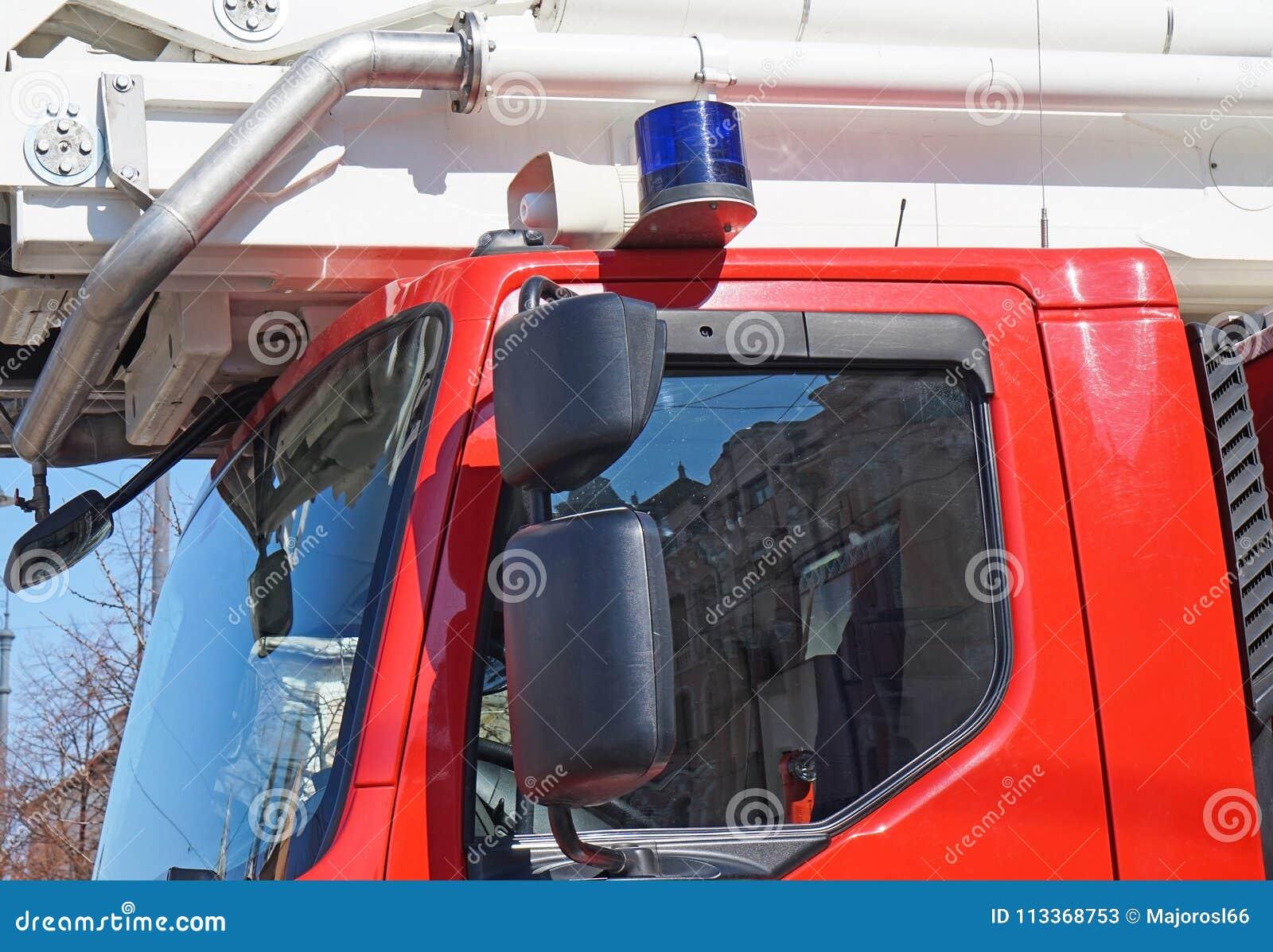 Sirene van een brandbestrijdersvrachtwagen