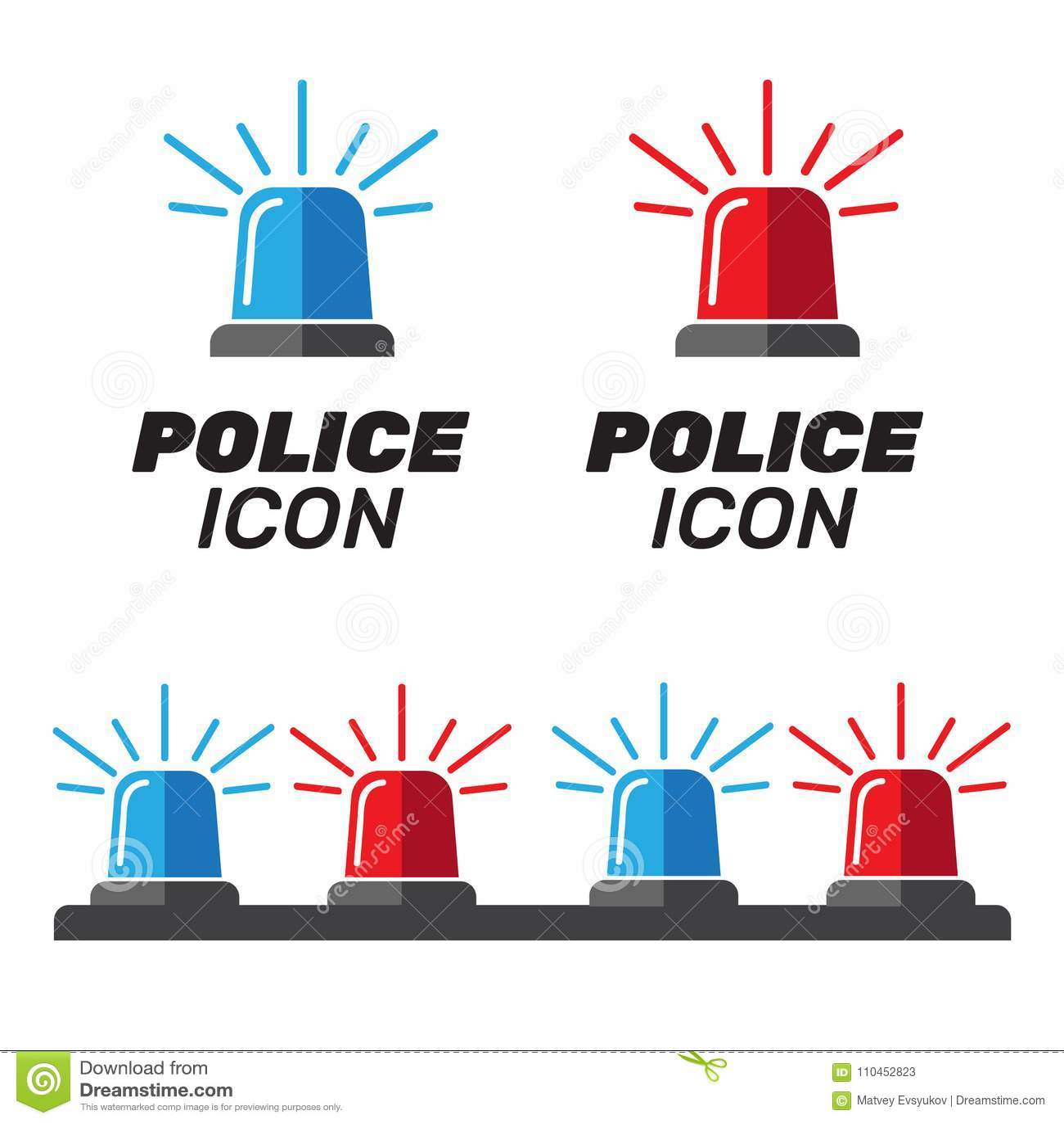 Sirenuppsättning Polisblinker eller ambulansblinker Sirenpolislig