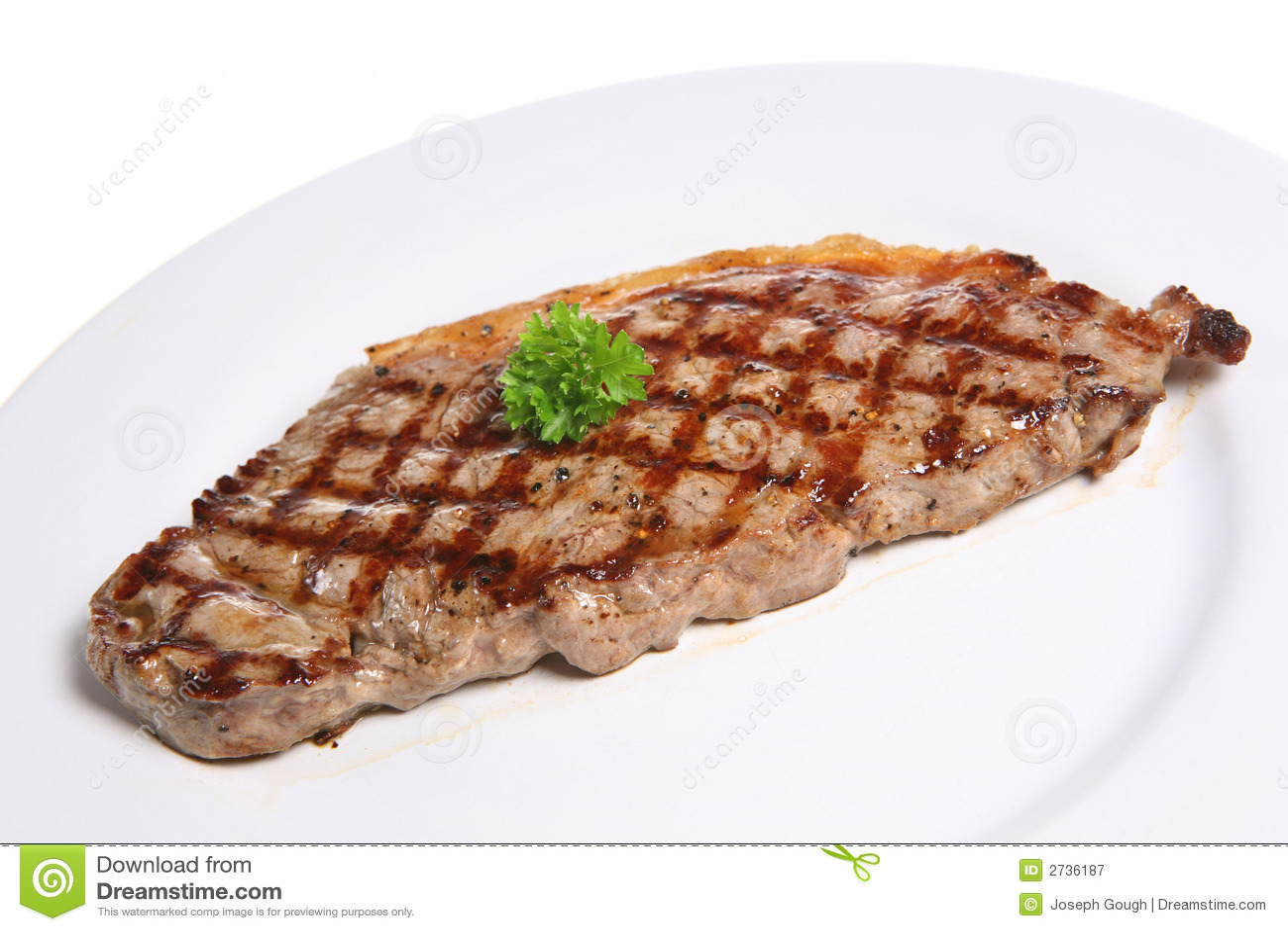 Sirloin Steak Dinner Plate stock image. Image of grilled ...