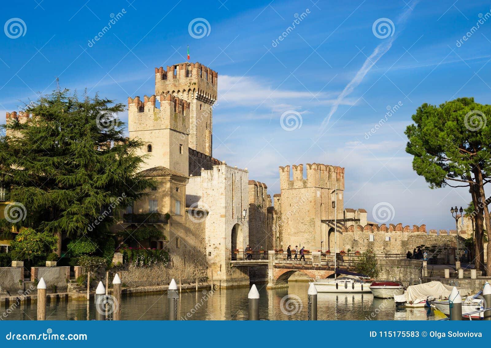 Rocca Scaligera castle in Sirmione near Garda Lake