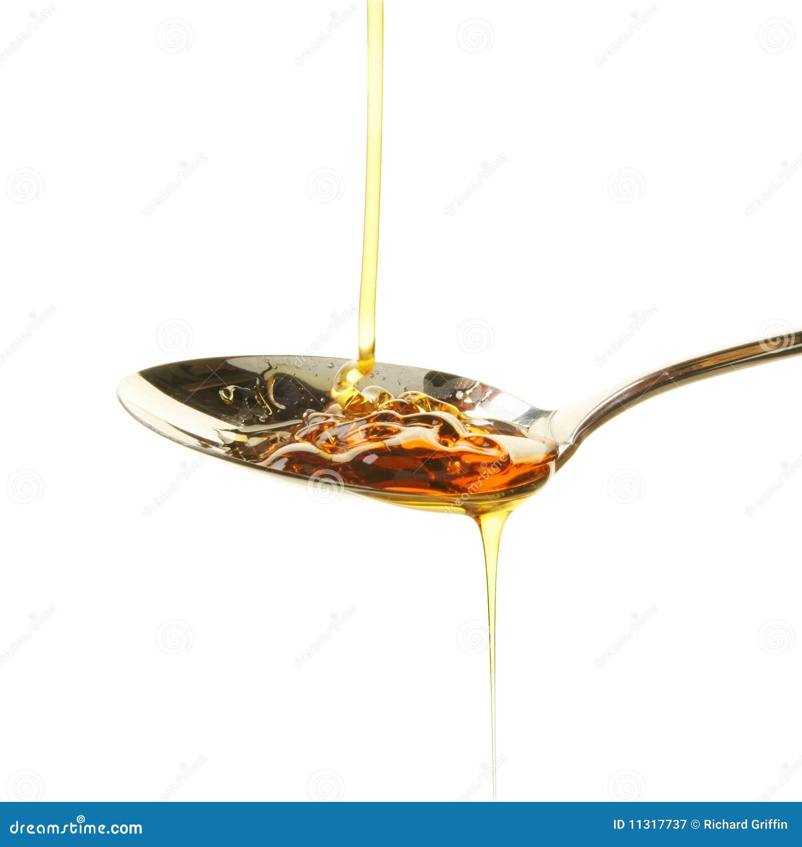 Sirup im Löffel